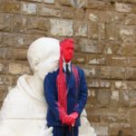 Италия, Флоренция, площадь - современные восковые скульптуры
