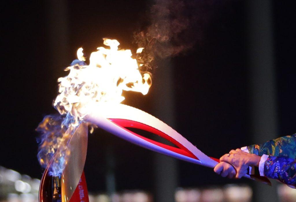 Зажигаем Олимпийский огонь